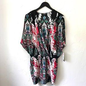 Rampage Soft Kimono Style Open Shoulder Top